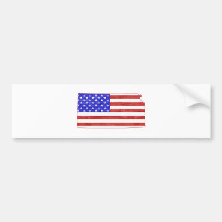 Kansas USA silhouette state map Bumper Sticker