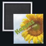 "Kansas USA Sunflower State Souvenir Fridge Magnet<br><div class=""desc"">Refrigerator magnet pictures a lovely Kansas sunflower.</div>"