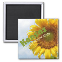 Kansas USA Sunflower State Souvenir Fridge Magnet