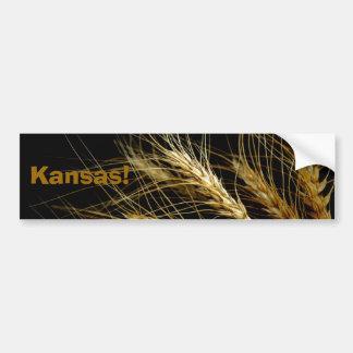 Kansas!  Wheat crop bumper sticker Car Bumper Sticker