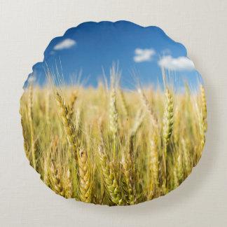 Kansas Wheat Round Pillow