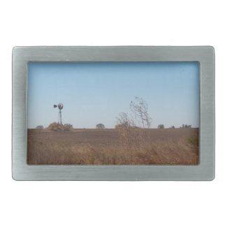 Kansas Windmill Belt Buckle