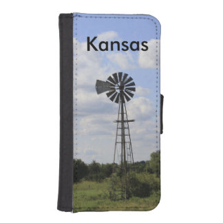 Kansas Windmill I Phone 5 Wallet Case
