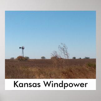 Kansas Windpower. Poster