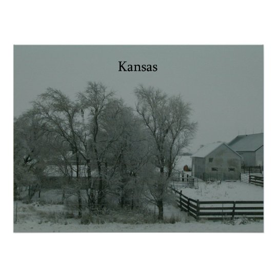 Kansas Winter ~Print~ Poster
