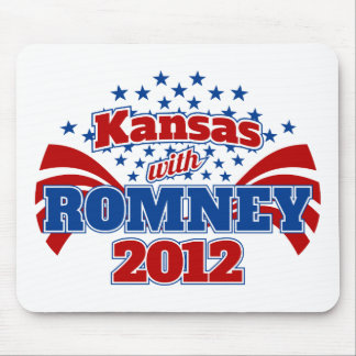 Kansas with Romney 2012 Mouse Pad