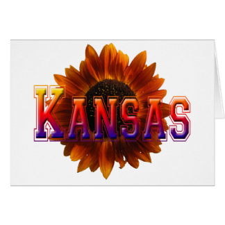 Kansas with Sunflower Greeting Card