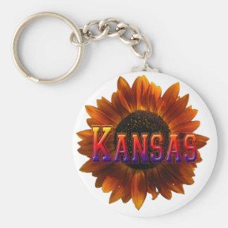 Kansas with Sunflower Keychain