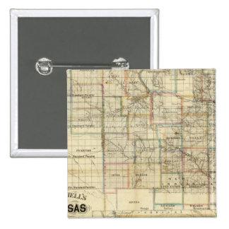 Kansas y las minas de oro pin cuadrada 5 cm