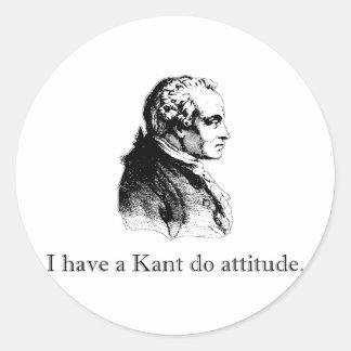 Kant Do Attitude Classic Round Sticker