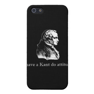 Kant hace actitud iPhone 5 carcasa