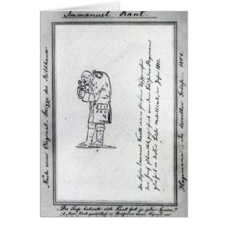 Kant mixing mustard, 1801 card