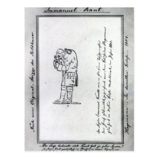 Kant mixing mustard, 1801 postcard