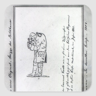 Kant mixing mustard, 1801 square sticker