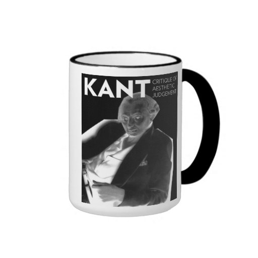 Kant you have a good day? ringer coffee mug
