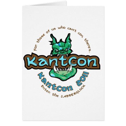 KantCon 2011 exclusivas Tarjeta De Felicitación