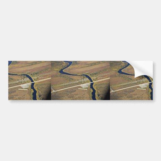 Kanuti River and Dalton Highway river crossing Bumper Stickers