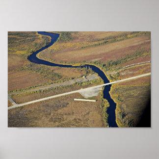 Kanuti River and Dalton Highway river crossing Print
