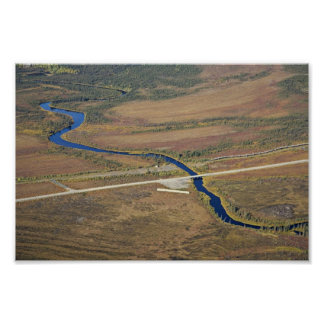 Kanuti River, Dalton Highway, and Trans Alaska Pip Poster