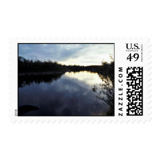 Kanuti River Sunset Stamp