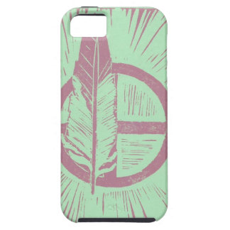 Kanza linocut iPhone 5/5S case, Magenta and Teal iPhone SE/5/5s Case
