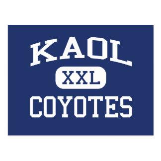 KAOL Coyotes  Middle School Kingman Arizona Postcard