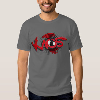 KAOS Band - on grey Tee Shirt