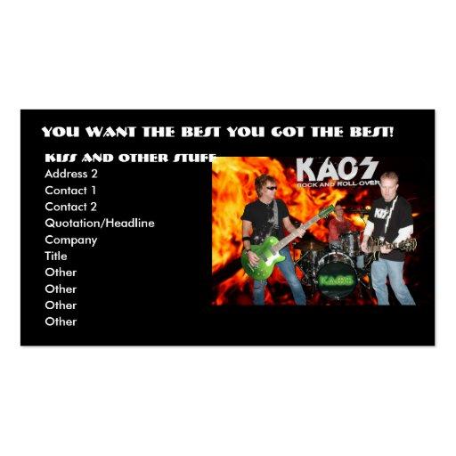 kaos business cards