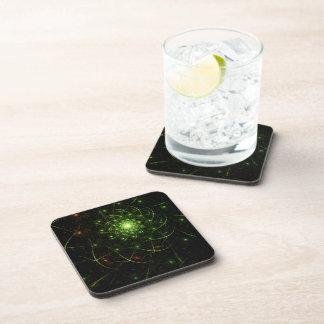 Kaos Entwined Flame Fractal Beverage Coaster