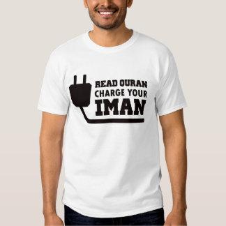 kaos muslim, charge your iman t shirt