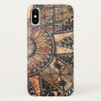 Kapa Primitive Hawaiian Tattoo Tapa Half Circle iPhone X Case