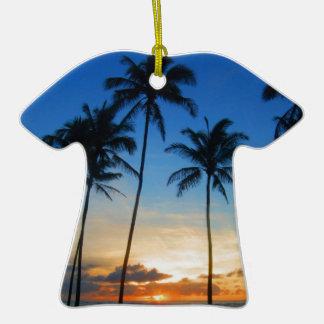 Kapaa Kauai Hawaii Double-Sided T-Shirt Ceramic Christmas Ornament