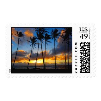 Kapa'a Kauai, Hawaii Sunrise Postage Stamp