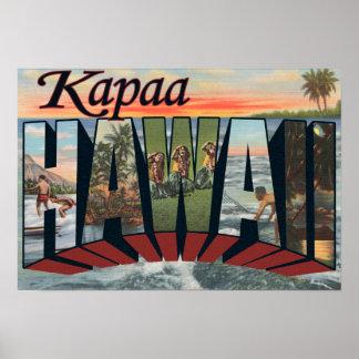 Kapaa, letra ScenesKapaa, HI de HawaiiLarge Impresiones