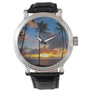 Kapaa Sunrise - Kauai, Hawaii Wristwatch