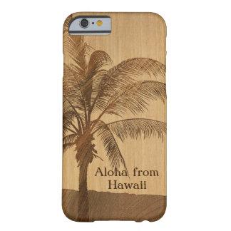 Kapaa Sunset Hawaiian Faux Koa Wood iPhone 6 case