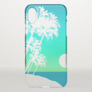 Kapaa Sunset Hawaiian Palm Tree Scenic Turq iPhone X Case