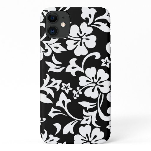 Kapalua Pareau Hawaiian Hibiscus Black iPhone 11 Case