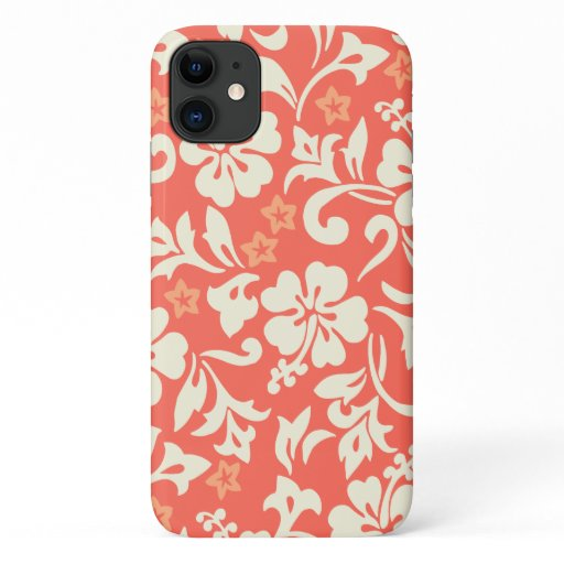 Kapalua Pareau Hawaiian Hibiscus Coral iPhone 11 Case