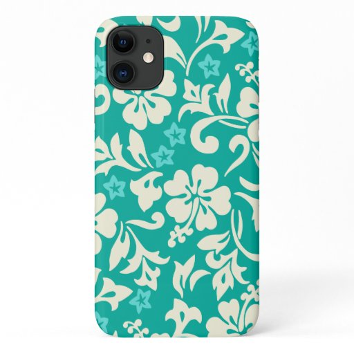 Kapalua Pareau Hawaiian Hibiscus Green iPhone 11 Case