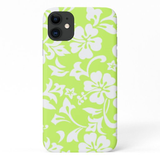 Kapalua Pareau Hawaiian Hibiscus Lime iPhone 11 Case