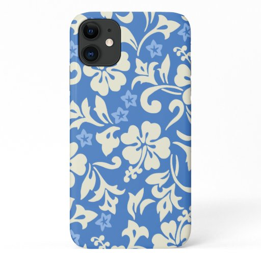 Kapalua Pareau Hawaiian Hibiscus Periwinkle iPhone 11 Case