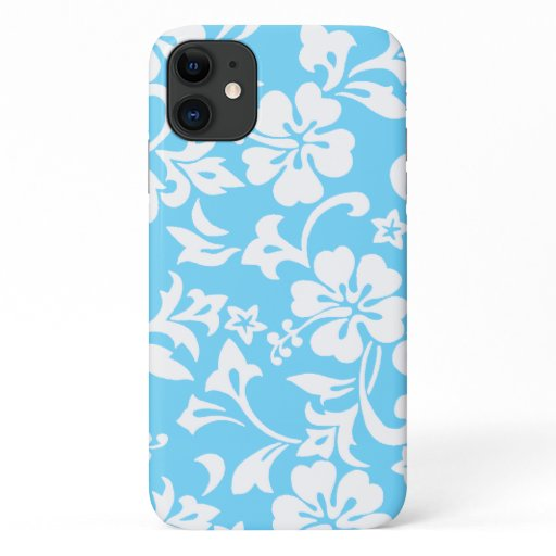 Kapalua Pareau Hawaiian Hibiscus Turq iPhone 11 Case