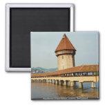 Kapelbruke Chapel Bridge, Lucerne, Switzerland Fridge Magnet