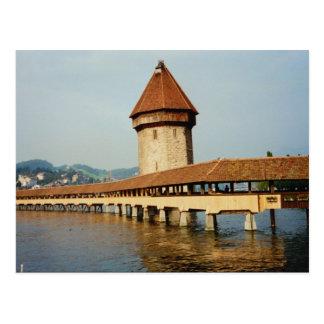 Kapelbruke Chapel Bridge, Lucerne, Switzerland Postcard