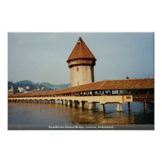 Kapelbruke Chapel Bridge, Lucerne, Switzerland Print