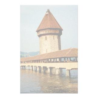 Kapelbruke Chapel Bridge, Lucerne, Switzerland Custom Stationery