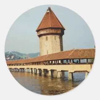 Kapelbruke Chapel Bridge Lucerne Switzerland Stickers