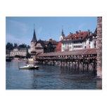 Kapellbrücke (Chapel Bridge), Lucerne Swtizerland Postcard