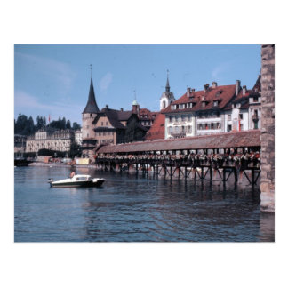 Kapellbrücke (Chapel Bridge), Lucerne Swtizerland Postcard